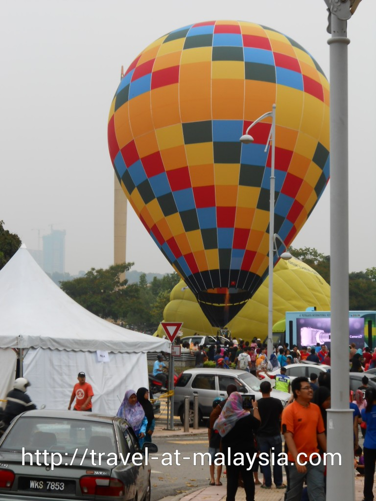 First Hot Air Balloon Inflated