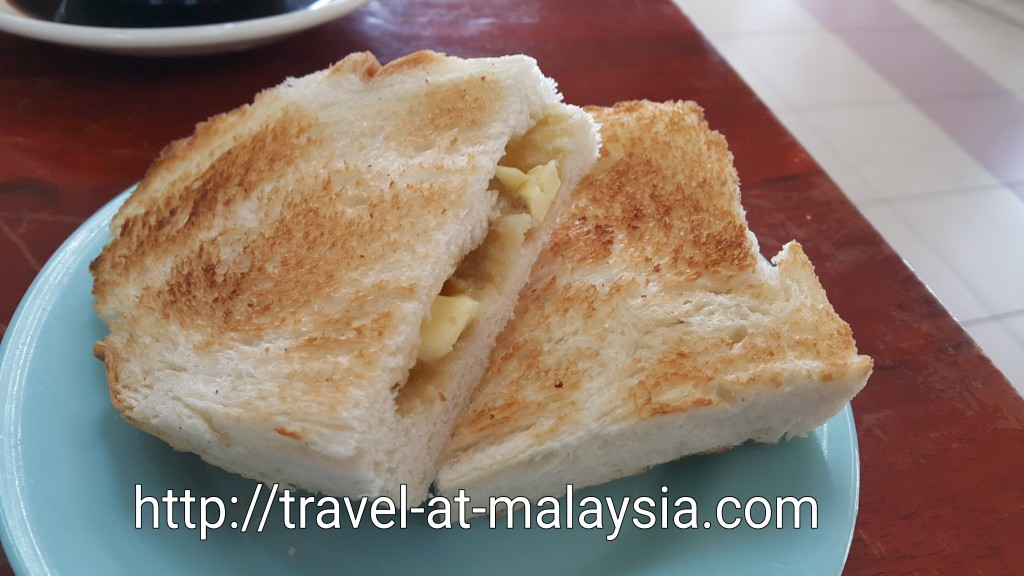 Roti Bakar with a thick slab of butter